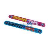Fascia su ordinazione di schiaffo del silicone del braccialetto di schiaffo del silicone/braccialetti di gomma di schiaffo