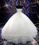 Robe de mariage perlée de robe de bille du cristal 2017 luxueux (Dream-100075)