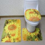 Waschbarer bequemer rutschfester Toiletten-und Bad-Zoll druckte das 3 Stück-Badezimmer-Matten-Set