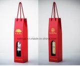 Costume ondulado branco caixa de envio impressa do vinho
