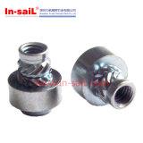 Noix filetées de garniture intérieure d'acier inoxydable