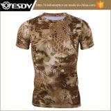 hommes de T-shirt de Rapide-Séchage de camouflage de python de l'été 4colors
