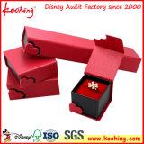 Rectángulo de regalo de papel impreso insignia de encargo hecha a mano de lujo de la joyería, rectángulo del anillo, rectángulo del collar