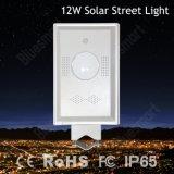 12W tout dans un éclairage LED solaire de jardin de rue avec le détecteur de mouvement