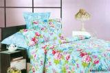 Microfiberの明白な染められた安いシーツの一定の寝具セット