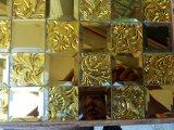 Goldspiegel-Glasmosaik-Muster-Fliese (HD073)