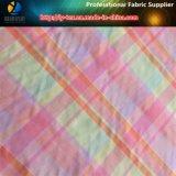 Tessuto dell'assegno di Shirting tinto filato variopinto di nylon delle donne