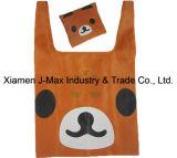Saco de compras dobrável, estilo do urso animal, reutilizável, leve, presentes, sacos de supermercado e acessível, promoção, acessórios e decoração