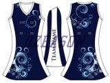 女の子のスポーツ・ウェアのネットボールの正装、テニス服(N003)