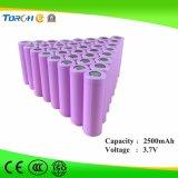 Original qualidade 3.7V 2500mAh Li-ion 18650 Bateria Fabricante Capacidade total