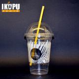 Чашка прозрачного устранимого любимчика пластичная с крышкой