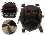 다색 줄무늬 부랑자와 어깨 여자 부대 화포 운반물 핸드백