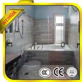 Tipos del vidrio de ventana del cuarto de baño, precio del vidrio Tempered para la pulgada del 1/2