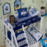 고품질 아이 지적인 나무로 되는 장난감 DIY 인형의 집 소형 Goode 선물 진한 파란색 꿈