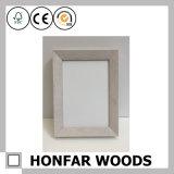 Europäischer silberner festes Holz-Bilderrahmen für Tischplattendekoration