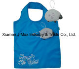 Saco Foldable do cliente, estilo da face, reusável, promoção, peso leve, saco de Tote