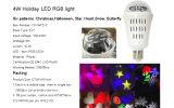 Ampoule tournante de vacances de RVB avec du ce d'ETL pour la célébration