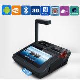 Sistema terminal da posição do pagamento móvel com o leitor de código da barra e o módulo de RFID