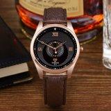 371 Hete Horloge van de Mensen van de Riem van het Leer van het Embleem van de Douane Yazole verkoopt het In het groot, het Horloge van de Manier