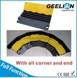 Protector de goma del cable del canal amarillo de la cubierta 3