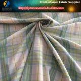 ポリエステルヤーンの染められた小切手のスパンデックスの人のワイシャツファブリック