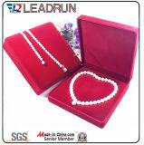 革ビロードの宝石類の収納箱の宝石類のネックレスのユニバーサルパッキングギフト用の箱(YSD89)