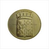 Muntstuk van de Herinnering van het Gouden Plateren van de Grootte van de douane het Euro