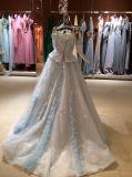 Ásia fora dos vestidos de casamento de Tulle da luva do Short do ombro com Multi-Colour
