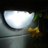 6LED太陽エネルギーランプライトセンサーの塀の溝の太陽軽い屋外の庭の壁ランプ