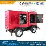 Groupe électrogène réglé se produisant diesel de générateurs électriques mobiles de Genset de remorque