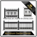 Moderno metal de aluminio de jardín de decoración de esgrima para villa