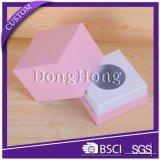 분홍색 색깔 입방체 디자인 호화스러운 초 포장 상자