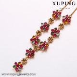 A colar colorida da flor da CZ do encanto de 43448 formas no ouro chapeou