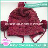 Forma Handmade do inverno morno novo que faz malha o chapéu acrílico