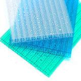 hoja de diez años 100% del policarbonato de la pared de Bayer cuatro de la garantía