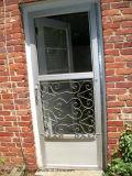 Portes à la maison en aluminium modernes et porte en aluminium en verre de bâti de guichet