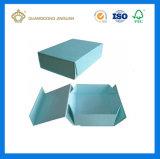 평지에 의하여 포장되는 Foldable 엄밀한 서류상 포장 상자 (강한 자석 마감에)