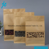 Recyclage Stand up Pouch Zip Lock Séchés Biodégradable Kraft Paper Bag Food
