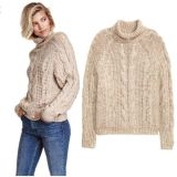 China Fornecedor Handmade Hand Knit Wool Sweater Coat Cardigan Dress