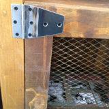 Archaize o gabinete de madeira da cremalheira do carrinho para Storge e indicá-lo (GR-177)