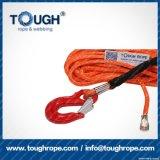 Fibra 100% resistente de Uhwmpe da corda da corda sintética do guincho Orange10.5mmx30m4X4