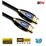 Cable del alto rendimiento 4k HDMI con Ethernet, 2160p para Uhd TV