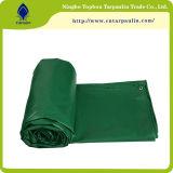 Encerado resistente laminado verde del encerado impermeable del PVC del encerado