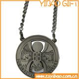Медаль спорта изготовленный на заказ логоса анти- серебряное с цепью металла (YB-MD-09)