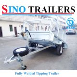 Forte Hidráulico Tipping Cage Box Trailer