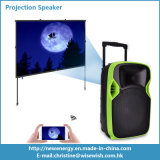 Haut-parleur extérieur portatif de projection du système en plastique DEL de PA avec la batterie