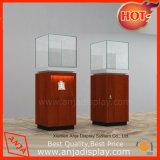 Présentoir portable en bois et en verre pour bijouterie