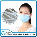 Faixa elástica trançada redonda da cor branca do costume 2.5mm do fornecedor de China largamente