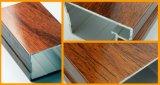 Extrusion en aluminium de transfert en bois des graines de matériau de construction pour la porte et le guichet