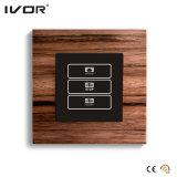 1 interruttore del regolatore della luminosità del gruppo nel telaio materiale di legno del profilo (HR1000-WD-D1)